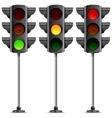 three traffic lights vector image vector image