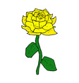 yellow rose comic cartoon vector image