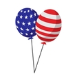 Balloons in the USA flag colors cartoon icon vector image