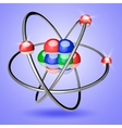 Colorful Atom 3d vector image
