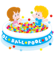 Children play in a ball pool vector image