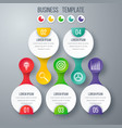 infographics template five options with circle vector image