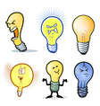lightbulb characters vector image