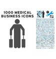 Passenger Baggage Icon with 1000 Medical Business vector image