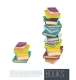 Pile of different books Isolated vector image