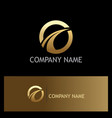 round loop golden business logo vector image