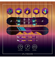 splitboard ski tour backcountry set vector image