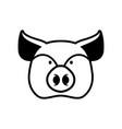 pig head sign piggy snout symbol farm animal vector image