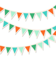 Set of multicolored flat buntings garlands vector image