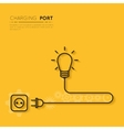 Recharge your creativity Power for creative ideas vector image vector image