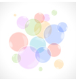 Rainbow bubbles vector image