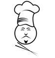 chef with chopsticks vector image