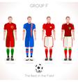 EURO 2016 GROUP F Championship vector image