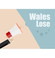 Wales lose Flat design business vector image