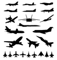 Symbols of planes vector image