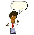 cartoon office man with crazy idea with speech vector image