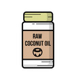 coconut oil icon hand-drawn icon of coconut oil vector image