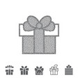 dotted gift box vector image