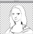 Mona Lisa vector image