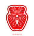 piece salmon fish icon flat style vector image