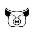 pig head sign piggy snout symbol farm animal vector image