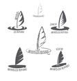 Set windsurfing logo vector image
