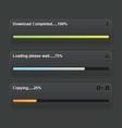 Download progress bar vector image vector image