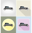 old retro transport flat icons 04 vector image vector image