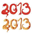 2013 Chinese Year of Snake Numbers vector image