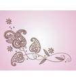 henna mendi floral pattern vector image vector image