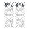 mail services icons mail clip and download vector image