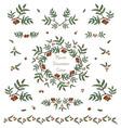 set of cute rowan twigs decorative elements vector image