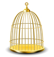Golden bird cage vector image