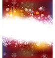 Christmas holiday background with snowflakes vector image vector image