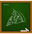 pizza icon Eps10 vector image