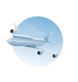 Plane in the air vector image