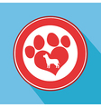 Love Paw Print Icon vector image