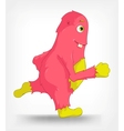 Funny Monster Running vector image vector image