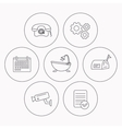 Phone video camera and mailbox icons vector image