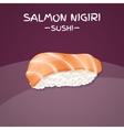 Salmon Nigiri Sushi vector image