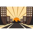 City Sunrise vector image