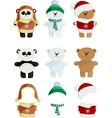 Collection of Cute Bear vector image
