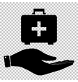 First aid box sign vector image