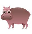 hippo cute cartoon character vector image
