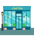 Light shop and store front icon flat style vector image