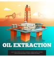 Oil Drilling Offshore Platform isometric Poster vector image