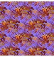 Seamless pattern Autumn wild grape branches and vector image