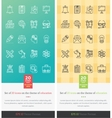 Set Icons on the Theme of Education vector image