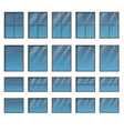 Set of different windows vector image