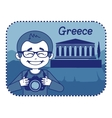 Teaser with photographer travels through Greece vector image